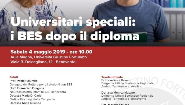2019 05 04 Unifortunato Universitari speciali: i BES dopo il diploma