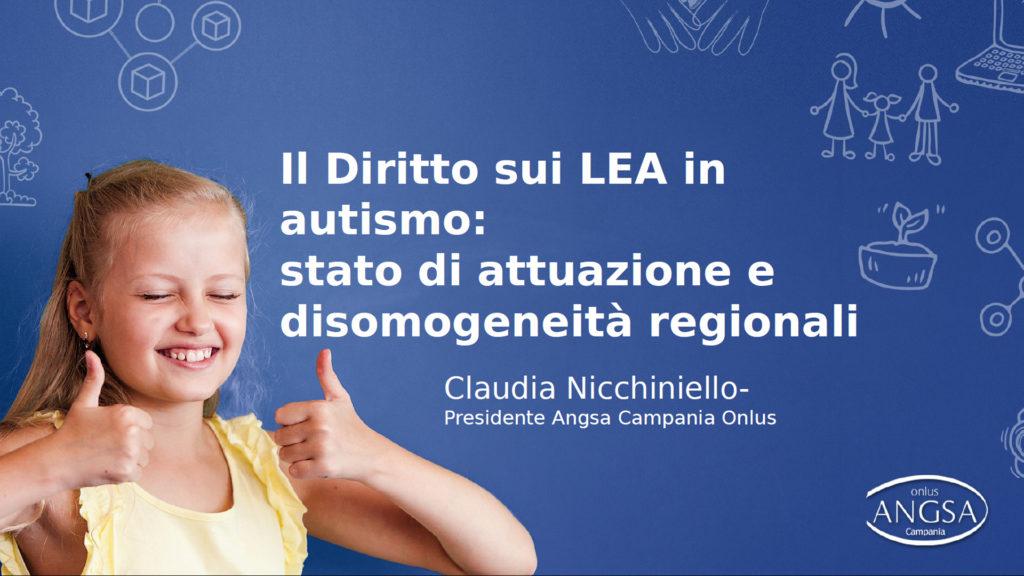 Diritto ai Livelli Essenziali di Assistenza per l'autismo