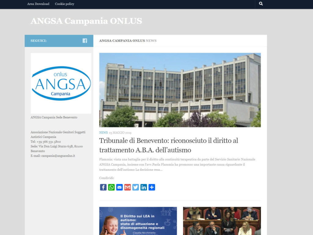 Sito ufficiale ANGSA Campania www.angsacampania.it