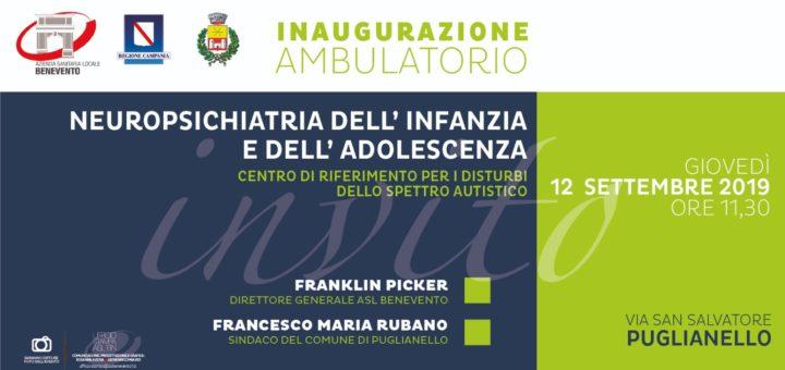 Invito inaugurazione ambulatorio NPIA Puglianello BN ASL